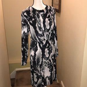 Jones NewYork 2x black white dress